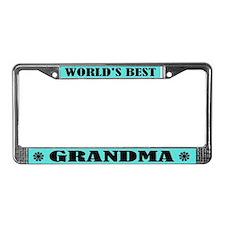 Best Grandma License Plate Frame