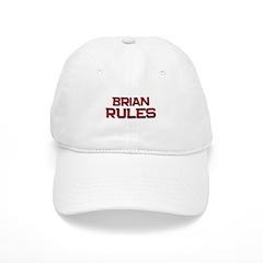 brian rules Baseball Cap