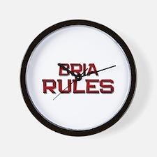 bria rules Wall Clock