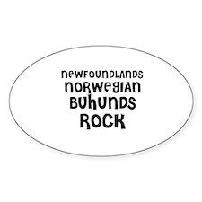 NEWFOUNDLANDS NORWEGIAN BUHUN Oval Decal