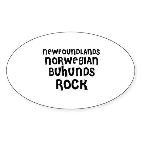 NEWFOUNDLANDS NORWEGIAN BUHUN Oval Sticker