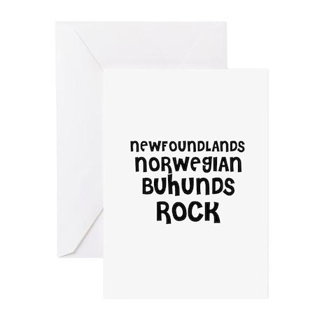 NEWFOUNDLANDS NORWEGIAN BUHUN Greeting Cards (Pack