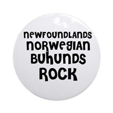NEWFOUNDLANDS NORWEGIAN BUHUN Ornament (Round)