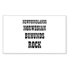 NEWFOUNDLANDS NORWEGIAN BUHUN Sticker (Rectangular