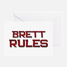 brett rules Greeting Card