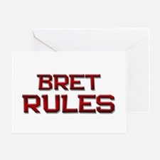 bret rules Greeting Card