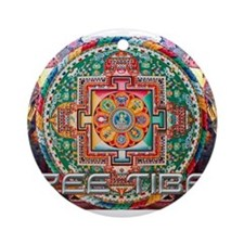 Cool Free tibet Ornament (Round)