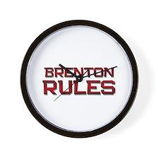 brenton rules Wall Clock