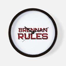 brennan rules Wall Clock