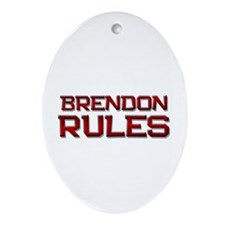 brendon rules Oval Ornament