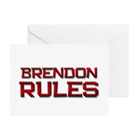 brendon rules Greeting Cards (Pk of 10)