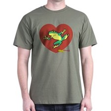 ASL Frog in Heart T-Shirt