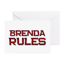 brenda rules Greeting Card