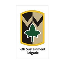 4th Sustainment Brigade Rectangle Decal