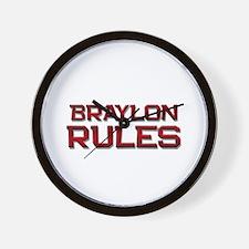 braylon rules Wall Clock