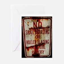 Cute Skateboarding Greeting Card