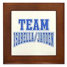 Team Isabella Jayden Framed Tile