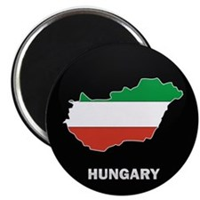 """Flag Map of Hungary 2.25"""" Magnet (10 pack)"""
