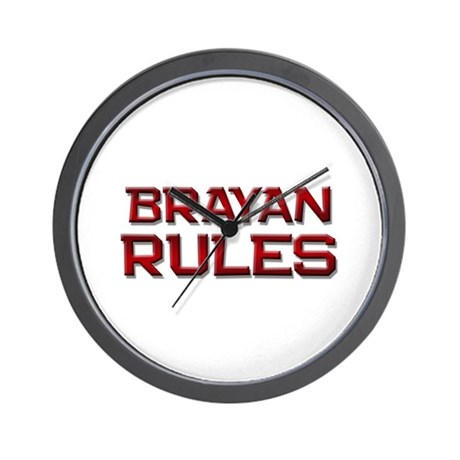 brayan rules Wall Clock