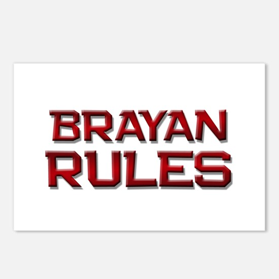 brayan rules Postcards (Package of 8)