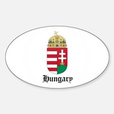 Hungarian Coat of Arms Seal Oval Decal
