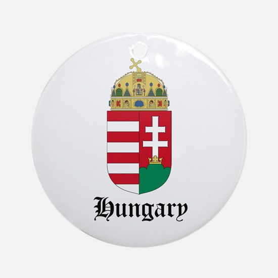 Hungarian Coat of Arms Seal Ornament (Round)