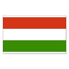 Hungary Flag Rectangle Decal
