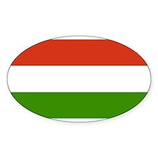 Hungary Flag Oval Decal