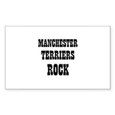 MANCHESTER TERRIERS ROCK Rectangle Decal