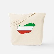 Hungary Flag Map Tote Bag