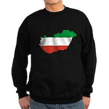 Hungary Flag Map Sweatshirt
