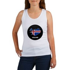 Flag Map of Iceland Women's Tank Top