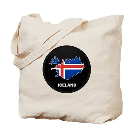 Flag Map of Iceland Tote Bag