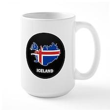 Flag Map of Iceland Mug