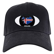 Flag Map of Iceland Baseball Hat