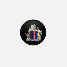Coat of Arms of Iceland Mini Button