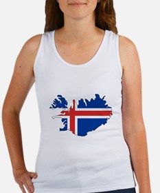 Iceland Flag Map Women's Tank Top