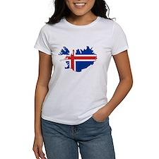 Iceland Flag Map Tee