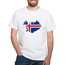 Iceland Flag Map Shirt