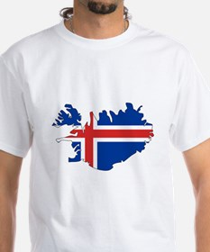 Iceland Flag Map Shirt