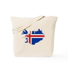Iceland Flag Map Tote Bag