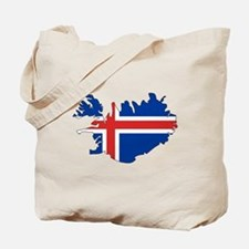 Iceland Flag Map Tote Bag