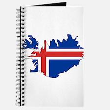 Iceland Flag Map Journal
