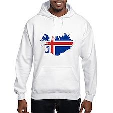 Iceland Flag Map Hoodie
