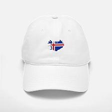 Iceland Flag Map Baseball Baseball Cap