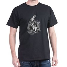 White Rabbit Black T-Shirt