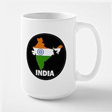 Flag Map of India Large Mug