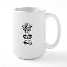 Indian Coat of Arms Seal Mug