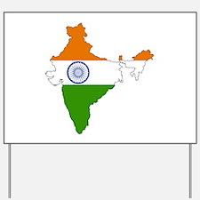 India Flag Map Yard Sign