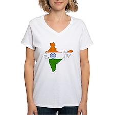 India Flag Map Shirt